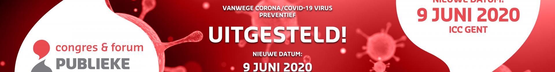 ! Congres wordt verplaatst naar 9 juni 2020 (ICC Gent)